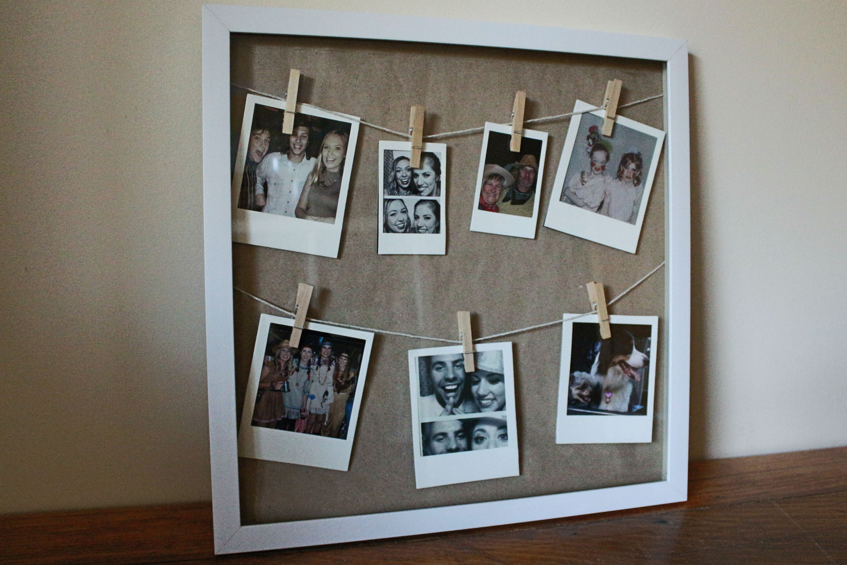 3d frame polaroid templates mini pegs from kmart twine kraft paper blue tack 9cent photos from officeworks